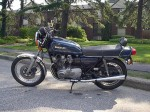 My Suzuki GS 750 with 2-valve heads and direct pull carburetors.