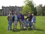 That's me Art Joly between Henry Mock and Ray Burton on the lawn of the Vanderbilt estate.