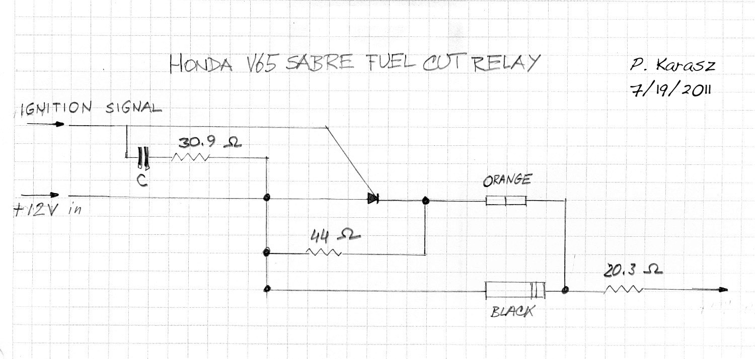Pete Karasz V65 Fuel Pump Relay Schematic Drawing This Is A Of The For Honda